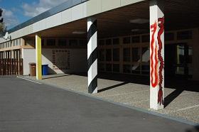 Der Eingangsbereich der Schule